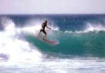Roger Mansfield surfing